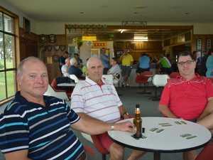 Chinchilla Golf Club President Brad Hubbard with Phil