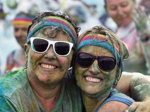 Sunshine Coast Colour Run. Jane Clark and Jodi