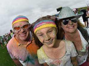 Sunshine Coast Colour Run. Chris and Toni Nightingale