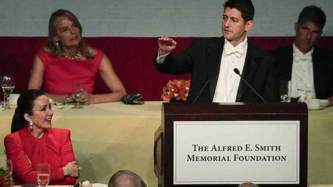 Speaker of the House Paul Ryan, R-Wis., speaks during the 72nd Annual Alfred E. Smith Memorial Foundation dinner, Thursday, Oct. 19, 2017, in New York.