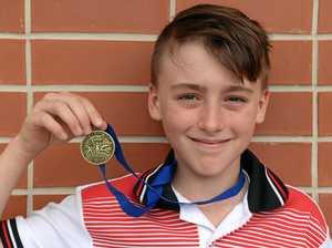 HIGHER: Bundaberg's Liam Taske won gold at the state school athletics titles.
