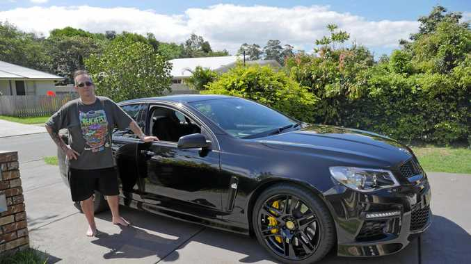 PRIDE AND JOY: Yandina man Troy U'Prichard with his 2013 VF GTS HSV Holden. It is the first HSV he has owned.