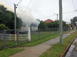 Flames engulf a Warwick home
