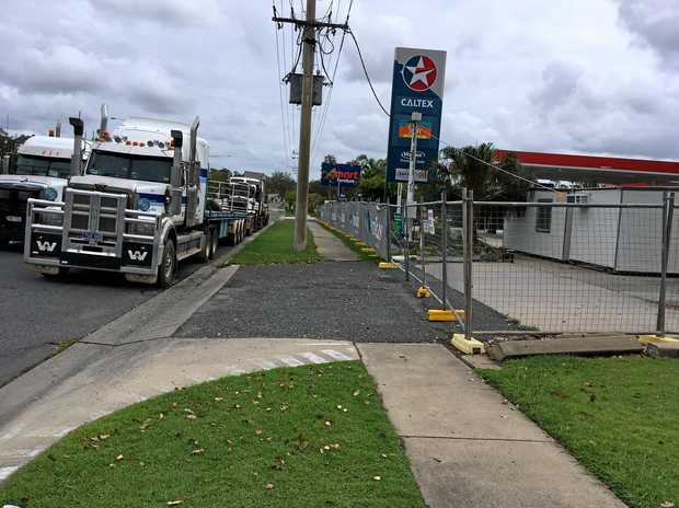 CLOSED: Yaamba Road Caltex Truckstop was fenced off and closed for renovations today leaving motorists seeking other options.