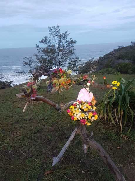MOVING TRIBUTE: The memorial at Round Hill Headland.