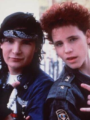 Corey Feldman (L) and Corey Haim in a 1988 film. Picture: Supplied