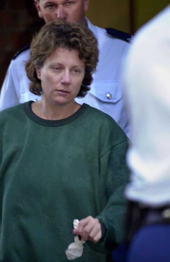 Coupled mother: Kathleen Folbigg is serving 30 years for killing her four infant children.