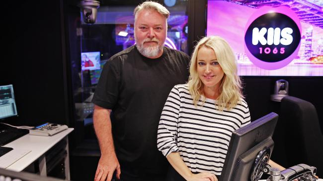 KIIS duo Kyle Sandilands and Jackie O are finally on par when it comes to their pay deal. Picture: Sam Ruttyn