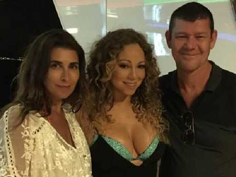 James Packer says he is close to both his ex wives Jodhi Meares, left, and Erica Baxter. He doesn't speak to Mariah Carey, however. Picture: Instagram/Jodhi Meares