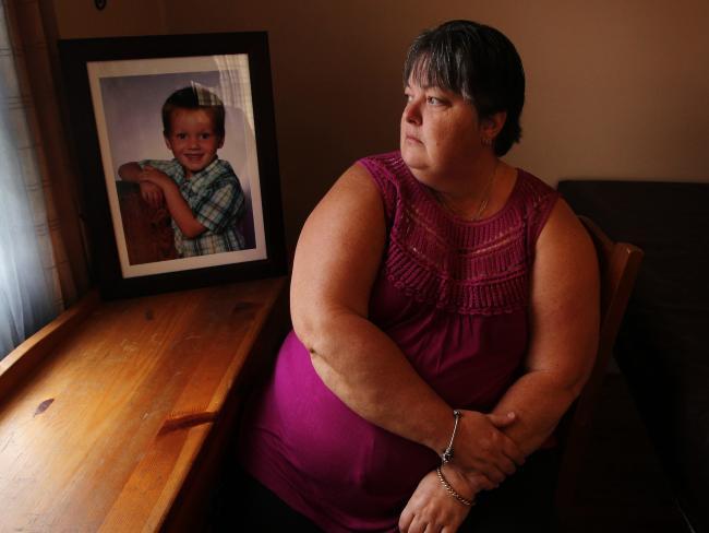 Karen Chapman, grandmother Bailey Constable, with a photo of her slain grandson.