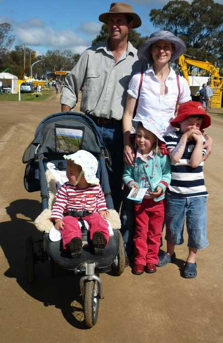 Geoff and Kim Hunt with their children Phoebe, Mia and Fletcher who all died from single gunshot wounds inflicted by Geoff in 2014.