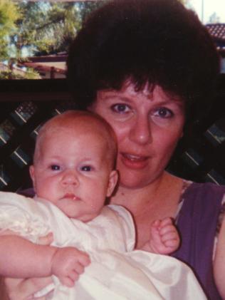 Kathleen Folbigg with baby Sarah.