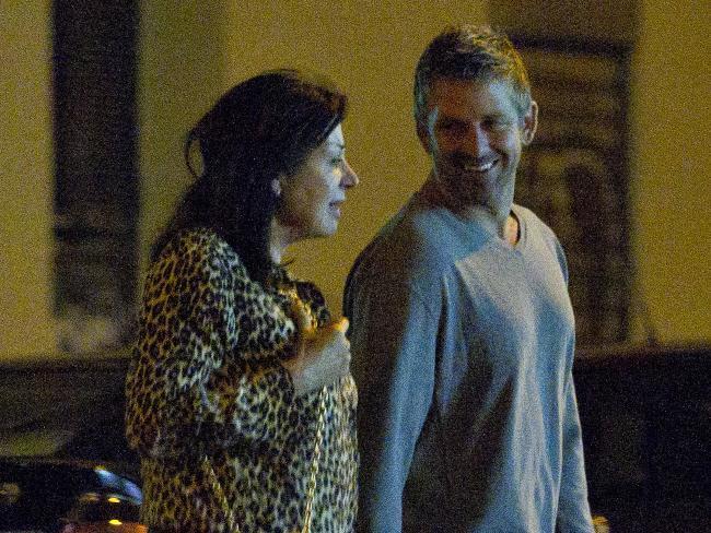 Carmen Martinez-Bordiu y Franco and Australian boyfriend, Timothy McKeague pictured in Madrid. Picture: Media Mode
