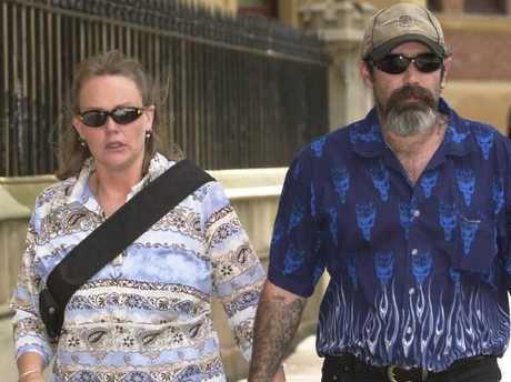 Jordan's mother Louise Anderson arrives at Hoerler's sentencing in 2003.