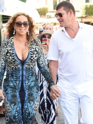 Mariah Carey And James Packer are seen together for the first time in Portofino on June 26, 2015. Picture: Supplied