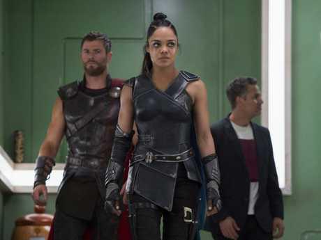 Tessa Thompson brings the girl power as a kick-ass Valkyrie in Thor: Ragnarok.