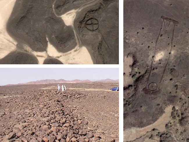 Amateur Saudi sleuths scoured Google Earth to discover the remains of the ancient structures. Picture: http://alsahra.org/?p=2794