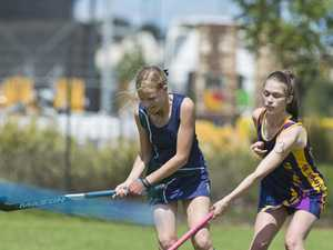 Nina Gannon (left) of St Ursula's College and