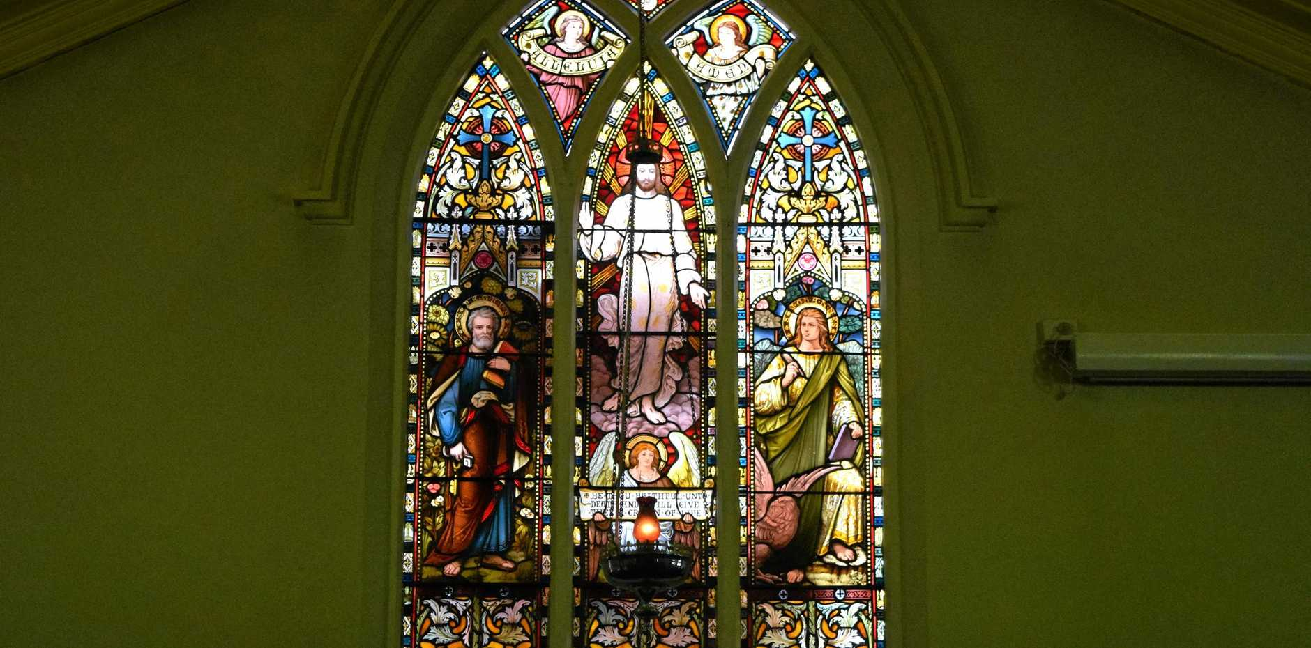 WINDOW: The Great Easter Window replaced after being smashed nearly two years ago.