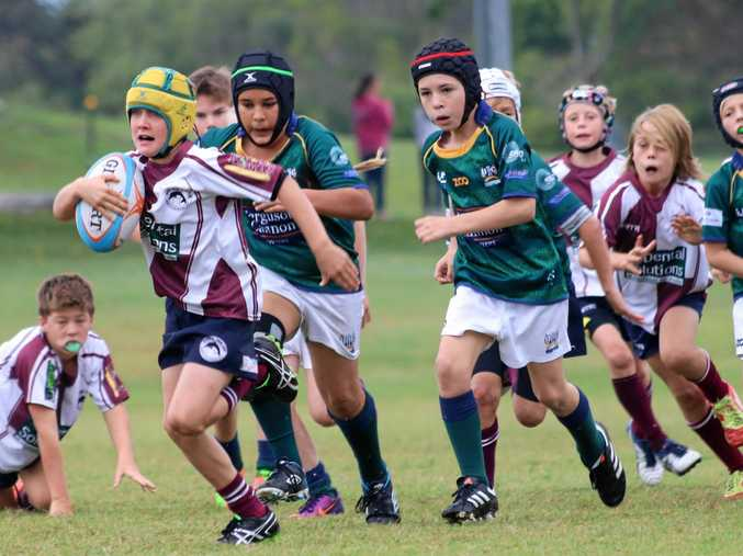 ACTIVE: A junior Noosa player gets running during the season.