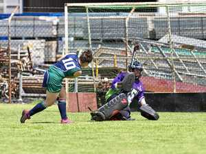 GOAL: Ebony Panzram opens the scoring for St Ursula's College against St Joseph's College.