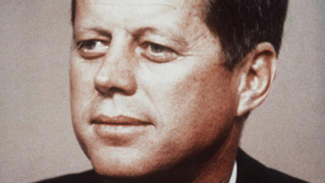 Former US President John F Kennedy. Picture: Supplied