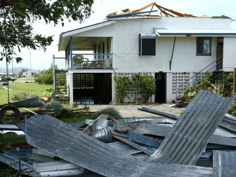 A Prosperpine home damaged by Cyclone Debbie. Photographer: Liam Kidston