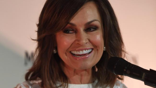 Lisa Wilkinson during the Moet and Chandon Guinness Book of Records tasting attempt in Sydney.