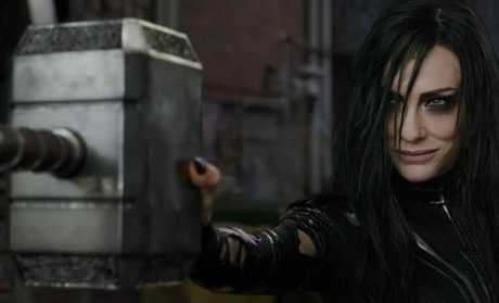 The spoiler revealed Blanchett's character Hela's real relation to Thor. Picture: Marvel Entertainment.