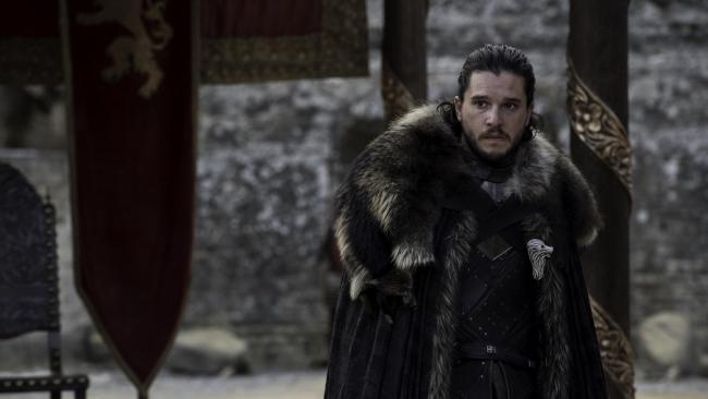 """Kit Harington as Jon Snow in Game of Thrones, said he """"cried"""" when he read the final script for the hit show. Picture: Supplied"""