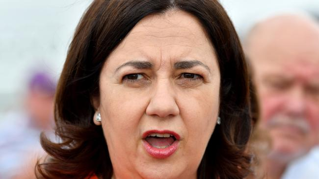 Premier Annastacia Palaszczuk has announced a pre-election energy plan to help Queensland households save money on their power pills. Picture: AAP Image/Darren England