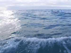 Entering the Tasman Sea by human power