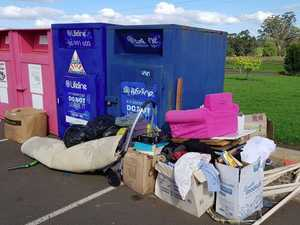 'Selfish lazy grubs': Resident rips into charity bin dumpers