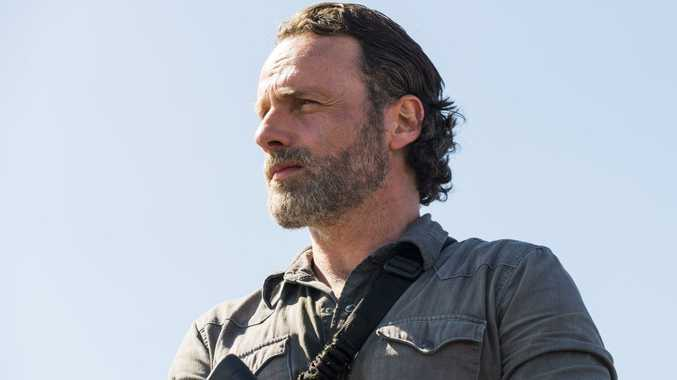 Andrew Lincoln as Rick Grimes in a scene from the season 8 premiere of The Walking Dead.
