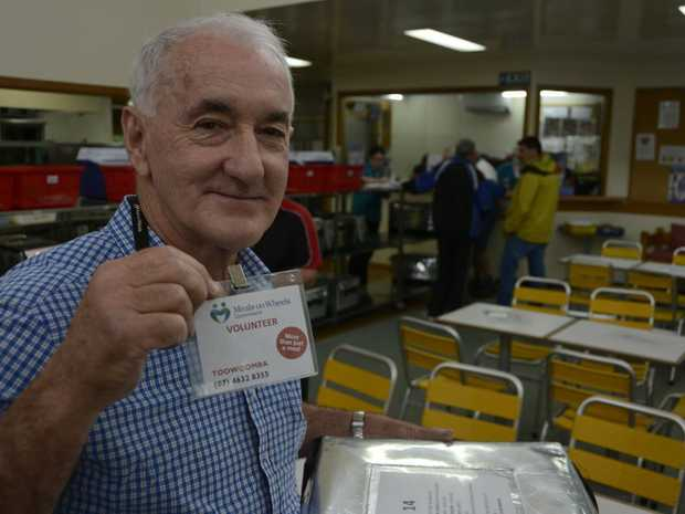 HERE TO HELP: Former teacher Ray Callaghan, who helps out at Meals on Wheels, is one of nearly 18,000 volunteers across Toowoomba according to the latest Census data.