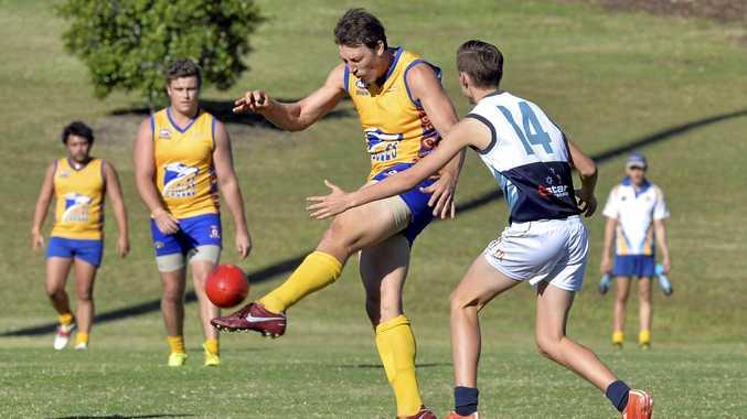 QAFA AFL Ipswich Eagles vs Beenleigh. Nick Barling.  Photo Inga Williams / The Queensland Times