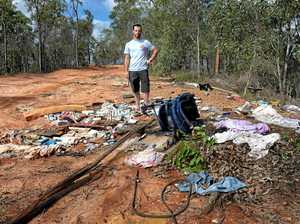 'Scrap heap mountain': Residents call out grubs for dumping