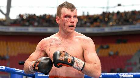 Jeff Horn during the WBO World Welterweight title fight at Suncorp Stadium in Brisbane