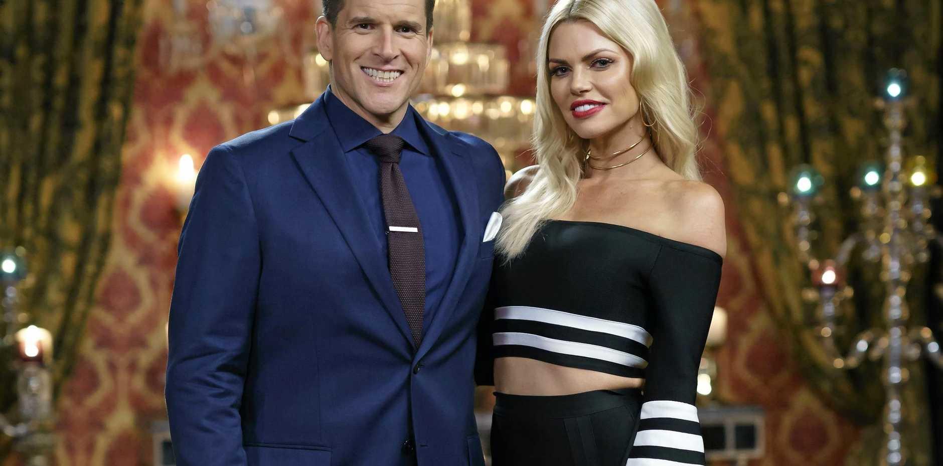 The Bachelorette Sophie Monk with host Osher Gunsberg.