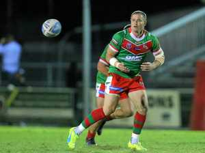 BACK HOME: Travis Burns passes for Wynnum Manly Seagulls in his final season in the big league in 2016 before returning to Wattles.