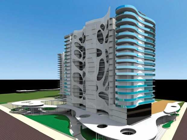 GOING UP: The Fraser Coast Council has granted preliminary approval for two 20-storey towers in Urangan.