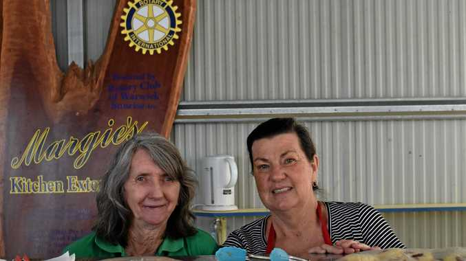 HEART AND SOUL: Margaret McCosker and Terri Beaver have been serving volunteers and competitors at Margie's Tea House for many years.