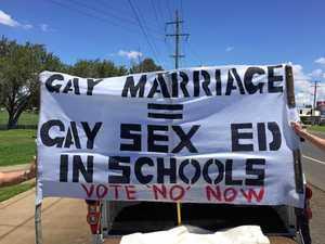 Same-sex marriage debate aired near school