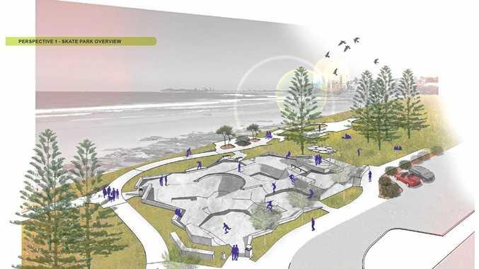 An artist's impression of Alex Skate Park's final design.
