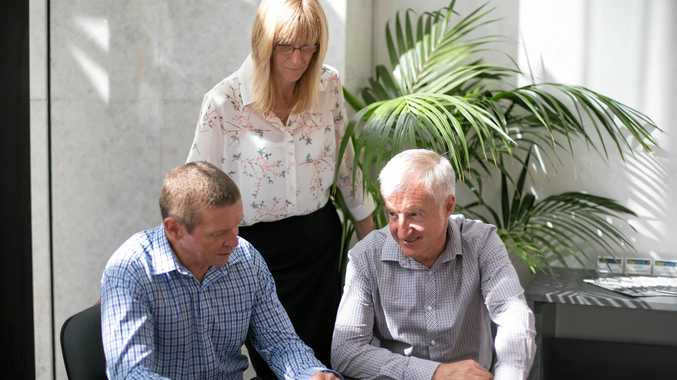 HELP: The Oculus Group Partners David de Closey and Jenny Dallinger with practice manager Tim O'Hara.