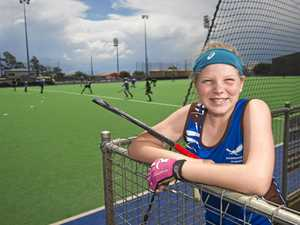 DEDICATED PLAYER: Harristown State High School's Shayel Fiedler is among the many talented young hockey players involved in the Queensland All Schools Cup at Toowoomba's Clyde Park.