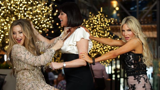 Real Housewives of Sydney cast Matty Samaei, Lisa Oldfield and Melissa Tkautz. Picture: Jonathan Ng