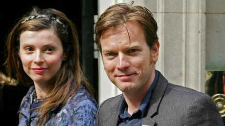 Ewan McGregor with his wife Eve Mavrakis in 2006. Picture: AFP
