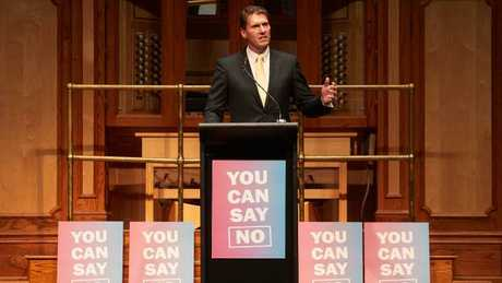 Cory Bernardi says he expects the result to be much closer than predicted and many No voters could be telling pollsters they are voting Yes due to 'political correctness'. Picture: AAP Image/MATT LOXTON.
