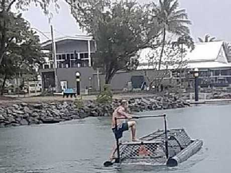 'Idiots of the century' photographed playing in baited crocodile trap in Australia